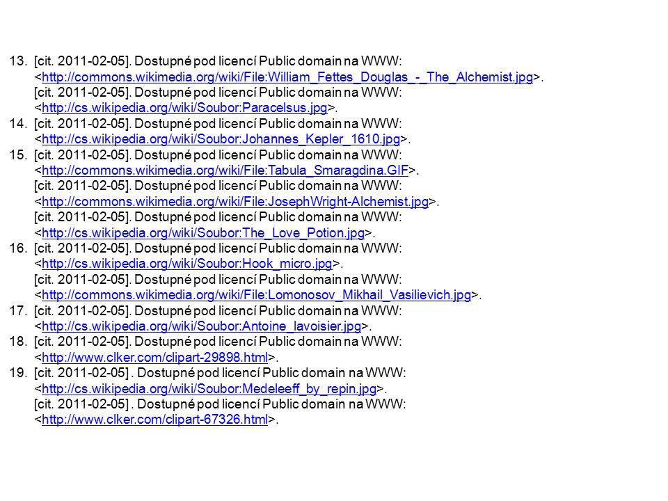 [cit. 2011-02-05]. Dostupné pod licencí Public domain na WWW: <http://commons.wikimedia.org/wiki/File:William_Fettes_Douglas_-_The_Alchemist.jpg>.